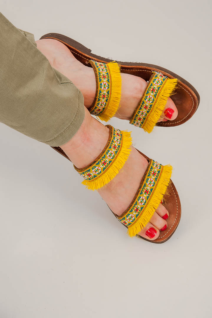latrakia, handmade Greek sandals
