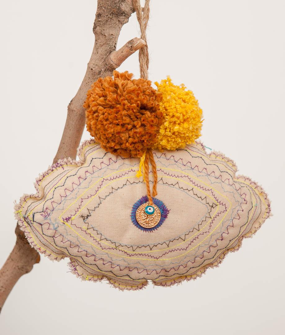latrakia, handmade good luck charms with an evil eye